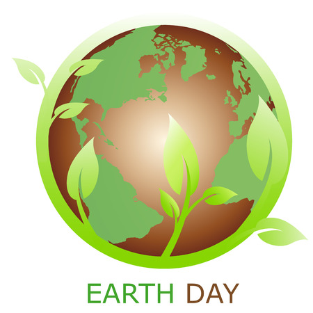 green earth:   Earth symbol, logo company Illustration