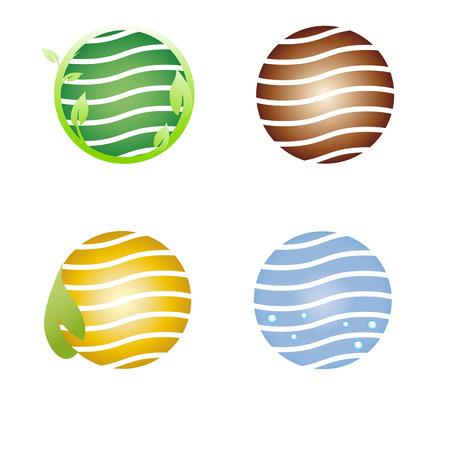 Earth symbol, logo company Stock Vector - 6638282
