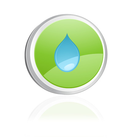 Ecology igon with drop water, green collection Stock Vector - 6656496