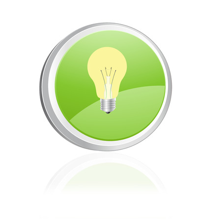 Ecology igon with light bulb, green collection Vector