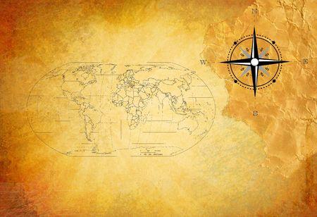 isla del tesoro: Viejo mapa de tesoro
