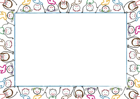 Many of children hold blank Stock Vector - 8467648