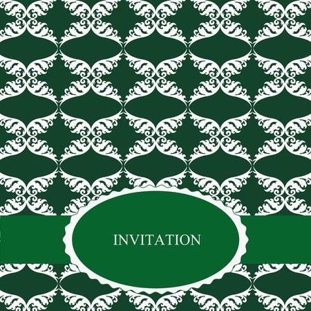Elegant invitation on special festivity photo