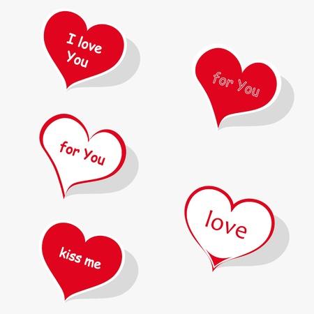 Heart labels photo