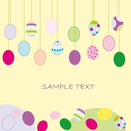 pasqua: Easter card with colorful eggs