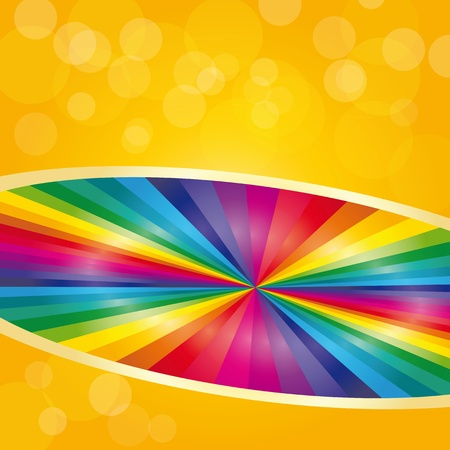 Abstract multicolor rainbow with reflex photo
