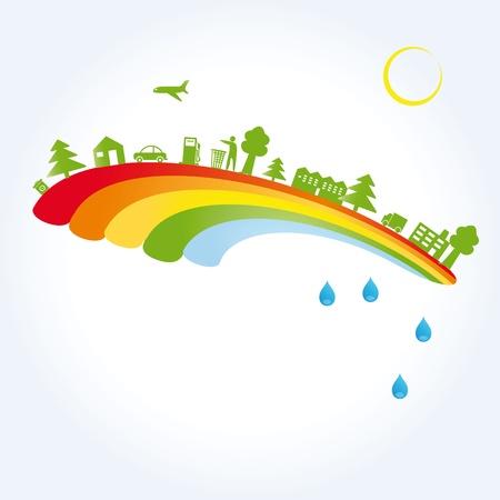 contaminacion ambiental: Concepto de ecología, que se puede utilizar en el día de la tierra