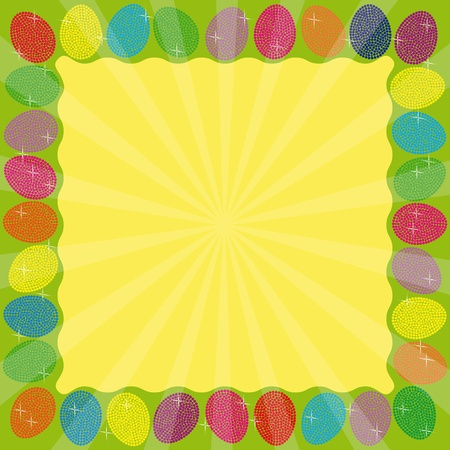 Frame with many colorful eggs photo