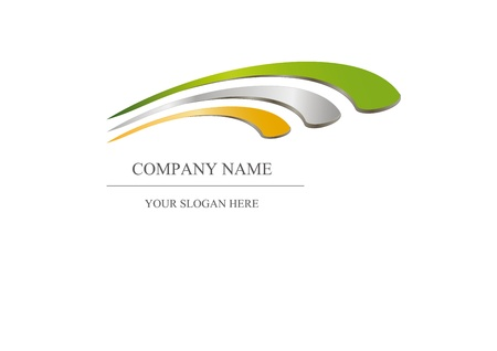 commerce and industry: Abstract icon - metalic company design  Stock Photo