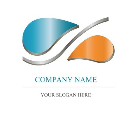 abstract logos: Abstract icon - metalic company design