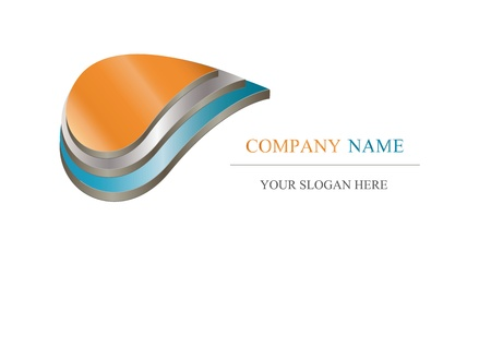 company logo: Abstract icon - metalic company design