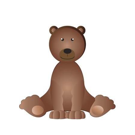 Cartoon cute bear - kids cuddly photo