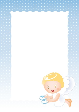 Baby frame on born boy Vector