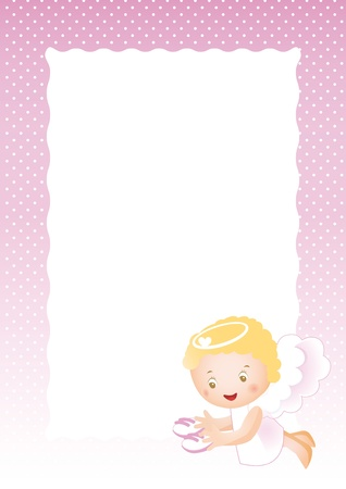 Baby frame on born girl Vector