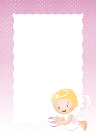 Baby frame on born girl