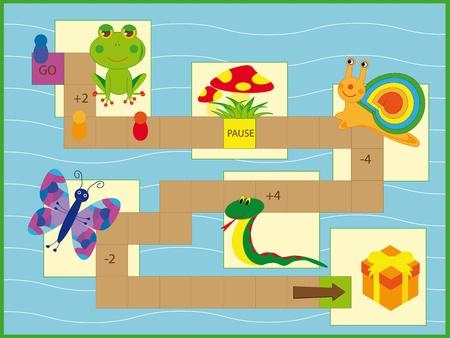 brettspiel: Nettes Spiel f�r Kinder Illustration