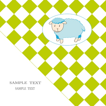 Cute baby card with sheep Vector