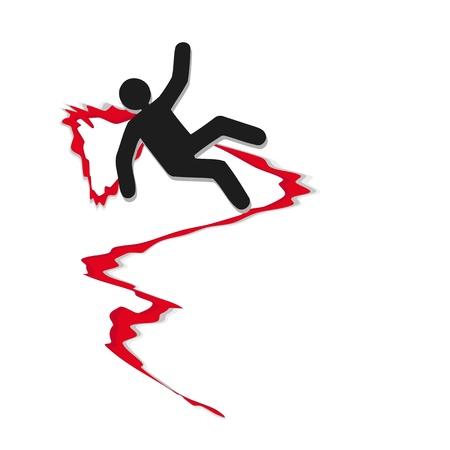 bloodshed: hombre herido en accidente de coche Vectores
