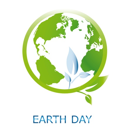 cleaning earth: Planet symbol on Earth Day