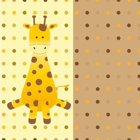 Baby card with cartoon giraffe Vector