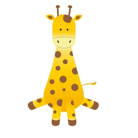 white background giraffe: Cartoon giraffe on white background Illustration