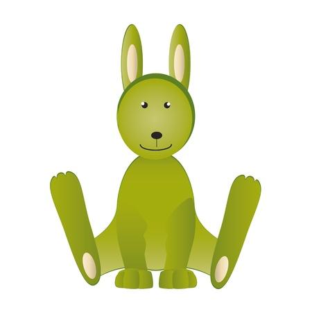 cuddly: Cartoon cute rabbit - kids cuddly