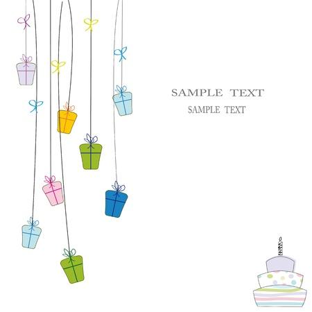 Cute card on festivity occasion Stock Vector - 9485734