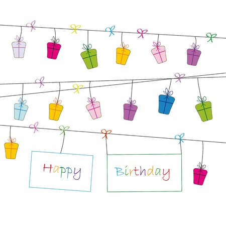 Cute card on festivity occasion Stock Vector - 9601747