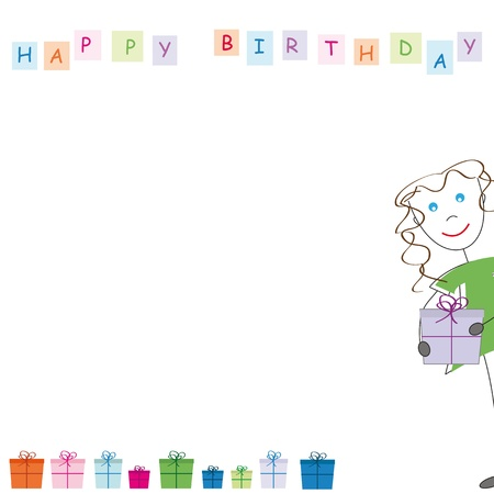 Birthday card Stock Vector - 9717488