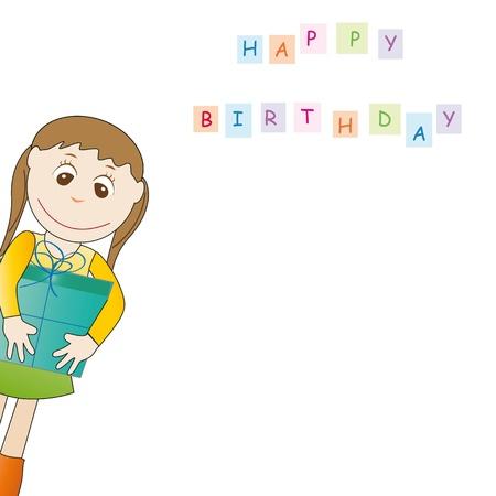 Cute card on festivity occasion Stock Vector - 9717491