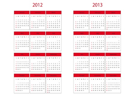 next year: Calendars on two next year