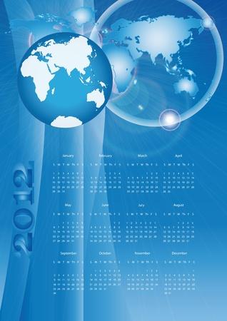 Modern calendar on new year 2012 Stock Vector - 9768935