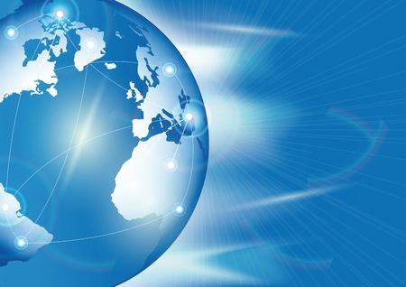 op maat: Global business. verbinding en communicatie concept