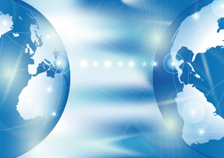 Global business. connection and communication concept Stock Photo - 9865593