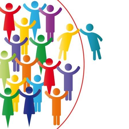 bienvenidos: Los miembros de persona afiliarse a personas de la compa��a grupo