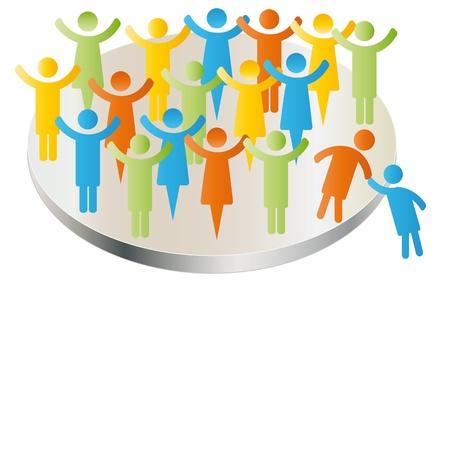 ayudando: Los miembros de persona afiliarse a personas de la compa��a grupo