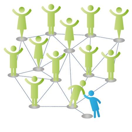personas ayudandose: Los miembros de persona afiliarse a personas de la compa��a grupo