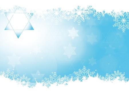 jeruzalem: Blauwe abstracte achtergrond op Chanoeka