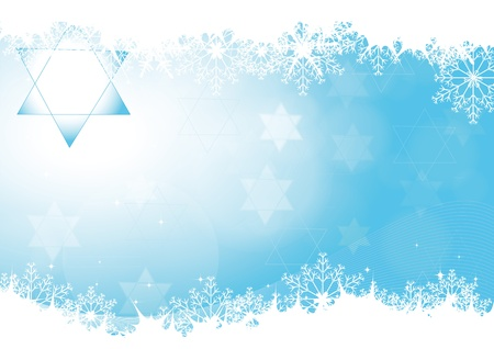 jewish new year: Blue abstract background on Hanukkah