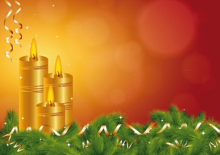 christmas memories: Background on All Souls Day or Christmas Illustration