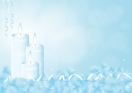 Background on Hanukkah or Christmas Vector
