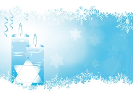 Blue abstract background on Hanukkah Stock Vector - 9931786