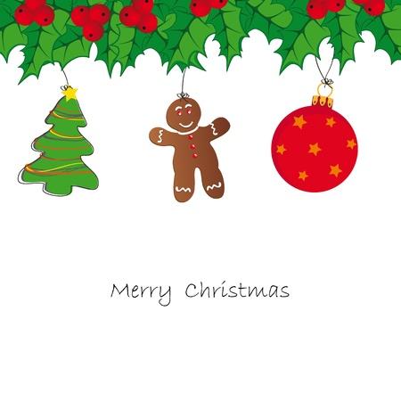 weihnachtskuchen: Zeichnung Hintergrund auf Weihnachtskarte