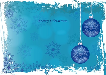 Grunge blue background on Christmas Stock Vector - 10079252