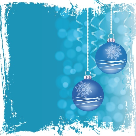 Grunge blue background on Christmas Vector