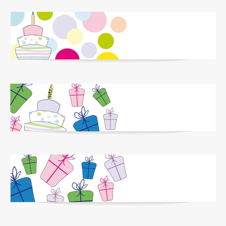 Cartoon banners on special day Vector