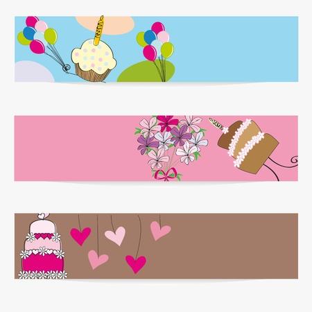 Banderoles à l'anniversaire, un mariage ou la Saint-Valentin