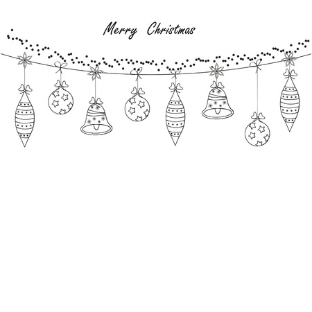 Black and white modern christmas card Stock Vector - 10491296