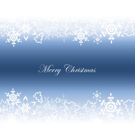 Christmas background with stars and christmas tree Vector