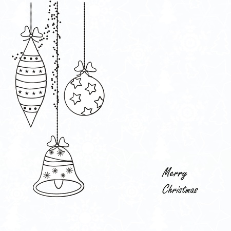 Black and white modern christmas card Vector